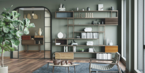 Librerie modulari in legno: essenzialità moderna e allure rinnovata per le librerie Morelato