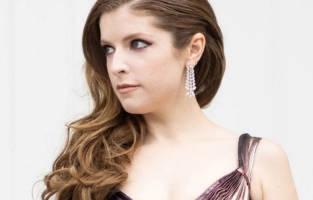 LOS ANGELES, CALIFORNIA - APRIL 11: Award Presenter Anna Kendrick poses in her award show look for the EE British Academy Film Awards 2021 on April 11, 2021 in Los Angeles, California. Due to COVID-19 restrictions nominees will be attending virtually alongside a virtual audience. (Photo by Emma McIntyre/Getty Images)