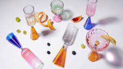 Bicchieri Calypso Serena Confalonieri: l'elegante collezione ispirata alle forme floreali dell'Art Nouveau