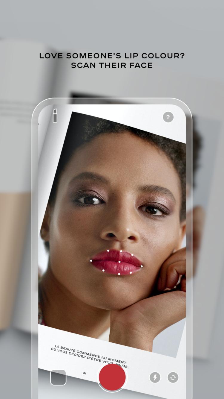 Chanel Lipscanner app beauty