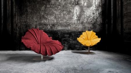 Kenneth Cobonpue primavera estate 2021: la seduta Bloom, le lampade Fandango e Poppy