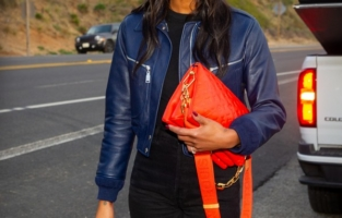 LOS ANGELES, CALIFORNIA - FEBRUARY 15: Actress Laura Harrier seen leaving a film set in Malibu on February 15, 2021 in Los Angeles, California. (Photo by John Sciulli/WireImage)