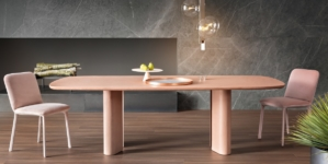 Tavoli di design moderno Bonaldo: Cross Table Glass, Art Wood e Geometric Table