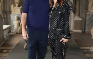 ROME, ITALY - JUNE 07: Gabriele Mainetti and Alice Vicario attend Damien Hirst Archaeology now exhibition, sponsored by Prada at Galleria Borghese on June 07, 2021 in Rome, Italy. (Photo by Ernesto S. Ruscio/Getty Images for Prada)