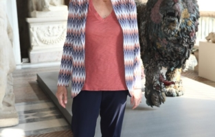 ROME, ITALY - JUNE 07: Flaminia Gennari Santori attends Damien Hirst Archaeology now exhibition, sponsored by Prada at Galleria Borghese on June 07, 2021 in Rome, Italy. (Photo by Ernesto S. Ruscio/Getty Images for Prada)