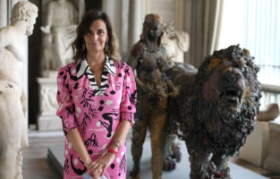 ROME, ITALY - JUNE 07: Francesca Cappelletti attends Damien Hirst Archaeology now exhibition, sponsored by Prada at Galleria Borghese on June 07, 2021 in Rome, Italy. (Photo by Ernesto S. Ruscio/Getty Images for Prada)