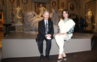 ROME, ITALY - JUNE 07: Salvatore Settis and Anna Coliva attend Damien Hirst Archaeology now exhibition, sponsored by Prada at Galleria Borghese on June 07, 2021 in Rome, Italy. (Photo by Ernesto S. Ruscio/Getty Images for Prada)
