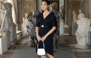 ROME, ITALY - JUNE 07: Tamu McPherson attends Damien Hirst Archaeology now exhibition, sponsored by Prada at Galleria Borghese on June 07, 2021 in Rome, Italy. (Photo by Vittorio Zunino Celotto/Getty Images for Prada)