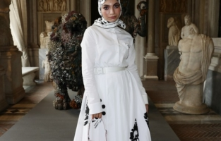 ROME, ITALY - JUNE 07: Aya Mohamed attends Damien Hirst Archaeology now exhibition, sponsored by Prada at Galleria Borghese on June 07, 2021 in Rome, Italy. (Photo by Vittorio Zunino Celotto/Getty Images for Prada)