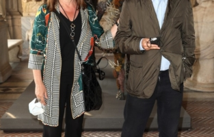 ROME, ITALY - JUNE 07: Margherita Guccione and a guest attend Damien Hirst Archaeology now exhibition, sponsored by Prada at Galleria Borghese on June 07, 2021 in Rome, Italy. (Photo by Ernesto S. Ruscio/Getty Images for Prada)