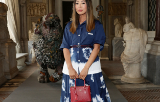 ROME, ITALY - JUNE 07: Aimee Song attends Damien Hirst Archaeology now exhibition, sponsored by Prada at Galleria Borghese on June 07, 2021 in Rome, Italy. (Photo by Vittorio Zunino Celotto/Getty Images for Prada)