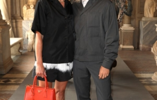 ROME, ITALY - JUNE 07: Claudia Ranieri and Alessandro Roja attend Damien Hirst Archaeology now exhibition, sponsored by Prada at Galleria Borghese on June 07, 2021 in Rome, Italy. (Photo by Ernesto S. Ruscio/Getty Images for Prada)