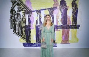 ATHENS, GREECE - JUNE 17: Suki Waterhouse attends the photocall of the Dior Cruise Collection 2022 at Panathinaiko Stadium on June 17, 2021 in Athens, Greece. (Photo by Pascal Le Segretain/Getty Images for Dior)