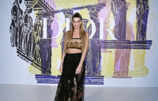 ATHENS, GREECE - JUNE 17: Bianca Brandolini d'Adda attends the photocall of the Dior Cruise Collection 2022 at Panathinaiko Stadium on June 17, 2021 in Athens, Greece. (Photo by Pascal Le Segretain/Getty Images for Dior)