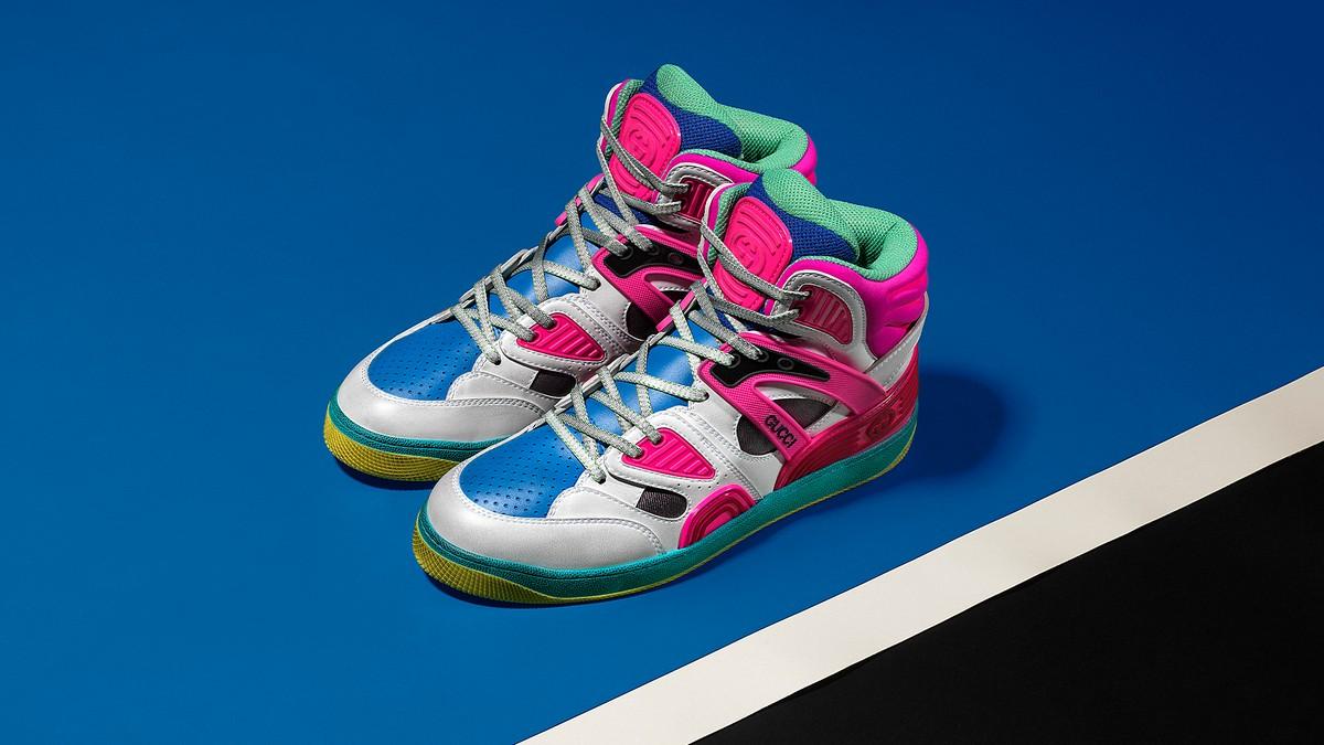 Gucci Demetra: il nuovo materiale animal-free e bio-based, le sneaker Basket, New Ace e Rhyton