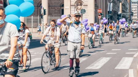 Milano Pride 2021: Arco della Pace e Parco Sempione si tingono dei colori dell'Arcobaleno