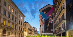 Murales Milano Porta Romana 2021 Cheone: il Titano per Casavo