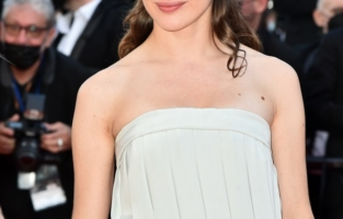 """CANNES, FRANCE - JULY 09: Rebecca Marder attends the """"Benedetta"""" screening during the 74th annual Cannes Film Festival on July 09, 2021 in Cannes, France. (Photo by Dominique Charriau/WireImage)"""