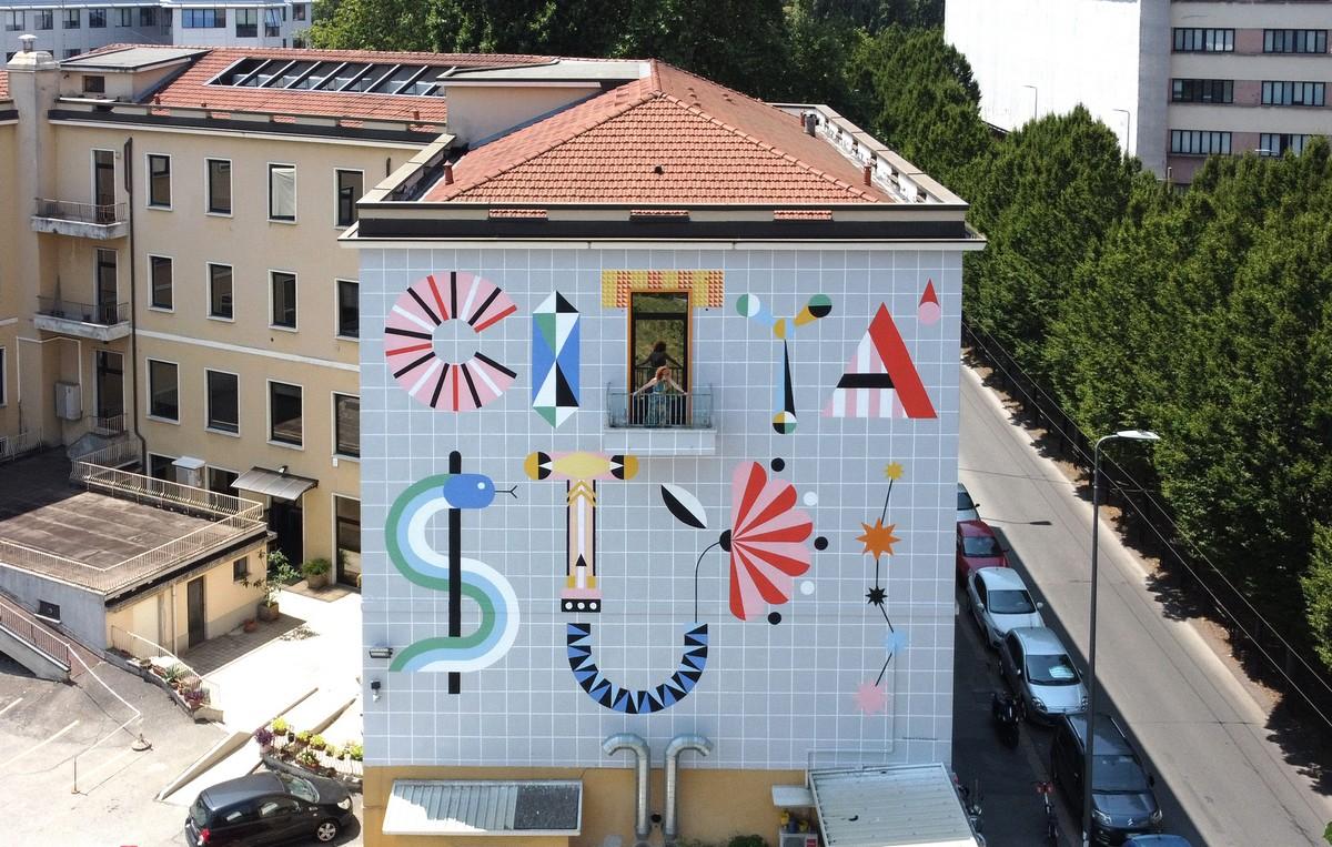 Città Studi Milano murales Serena Confalonieri