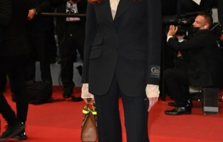 """CANNES, FRANCE - JULY 10: Kira Kovalenko attends the """"Flag Day"""" screening during the 74th annual Cannes Film Festival on July 10, 2021 in Cannes, France. (Photo by Daniele Venturelli/WireImage)"""