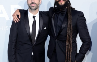 CAP D'ANTIBES, FRANCE - JULY 16: (L to R) Mohammed Al Turki and Rawkan Binbella attend the amfAR Cannes Gala 2021 at Villa Eilenroc on July 16, 2021 in Cap d'Antibes, France. (Photo by Andreas Rentz/amfAR/Getty Images for amfAR)