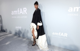 CAP D'ANTIBES, FRANCE - JULY 16: Cindy Bruna attends the amfAR Cannes Gala 2021 at Villa Eilenroc on July 16, 2021 in Cap d'Antibes, France. (Photo by Andreas Rentz/amfAR/Getty Images for amfAR)