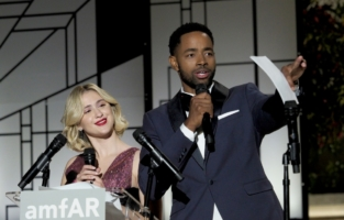 CAP D'ANTIBES, FRANCE - JULY 16: Maria Bakalova and Jay Ellis attend the amfAR Cannes Gala 2021 at Villa Eilenroc on July 16, 2021 in Cap d'Antibes, France. (Photo by Arnold Jerocki/Getty Images for amfAR)