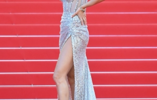 """CANNES, FRANCE - JULY 13: Isabeli Fontana attends the """"Aline, The Voice Of Love"""" screening during the 74th annual Cannes Film Festival on July 13, 2021 in Cannes, France. (Photo by Daniele Venturelli/WireImage)"""