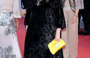 """CANNES, FRANCE - JULY 10: Catherine Deneuve attends the """"De Son Vivant (Peaceful)"""" screening during the 74th annual Cannes Film Festival on July 10, 2021 in Cannes, France. (Photo by Daniele Venturelli/WireImage)"""