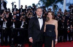 Matt Damon et Camille Cottin - Stillwater - MontŽe Marches/Steps Cannes Festival.