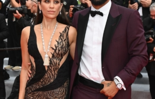 """CANNES, FRANCE - JULY 12: Marcelo Vieira and wife Clarisse Alves attend the """"The French Dispatch"""" screening during the 74th annual Cannes Film Festival on July 12, 2021 in Cannes, France. (Photo by Pascal Le Segretain/Getty Images)"""