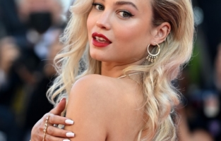 """CANNES, FRANCE - JULY 14: Rose Bertram attends the """"A Felesegam Tortenete/The Story Of My Wife"""" screening during the 74th annual Cannes Film Festival on July 14, 2021 in Cannes, France. (Photo by Kate Green/Getty Images)"""
