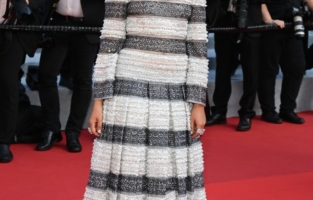 """CANNES, FRANCE - JULY 17: Lyna Khoudri attends the final screening of """"OSS 117: From Africa With Love"""" and closing ceremony during the 74th annual Cannes Film Festival on July 17, 2021 in Cannes, France. (Photo by Pascal Le Segretain/Getty Images)"""