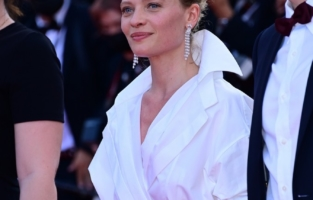 """CANNES, FRANCE - JULY 17: <> attends the final screening of """"OSS 117: From Africa With Love"""" and closing ceremony during the 74th annual Cannes Film Festival on July 17, 2021 in Cannes, France. (Photo by Daniele Venturelli/WireImage)"""
