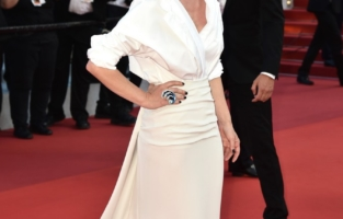 """CANNES, FRANCE - JULY 17: Melanie Thierry attends the final screening of """"OSS 117: From Africa With Love"""" and closing ceremony during the 74th annual Cannes Film Festival on July 17, 2021 in Cannes, France. (Photo by Dominique Charriau/WireImage)"""