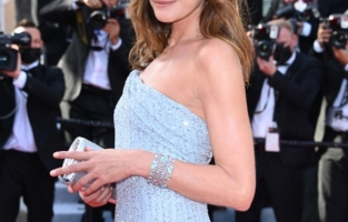 """CANNES, FRANCE - JULY 06: <> attends the """"Annette"""" screening and opening ceremony during the 74th annual Cannes Film Festival on July 06, 2021 in Cannes, France. (Photo by Daniele Venturelli/WireImage)"""