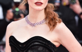 """CANNES, FRANCE - JULY 06: Jessica Chastain attends the """"Annette"""" screening and opening ceremony during the 74th annual Cannes Film Festival on July 06, 2021 in Cannes, France. (Photo by Dominique Charriau/WireImage)"""