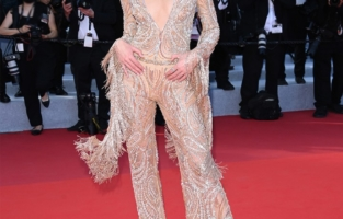 """CANNES, FRANCE - MAY 17: Negin Mirsalehi attends the screening of """"Pain And Glory (Dolor Y Gloria/Douleur Et Gloire)"""" during the 72nd annual Cannes Film Festival on May 17, 2019 in Cannes, France. (Photo by Stephane Cardinale - Corbis/Corbis via Getty Images)"""