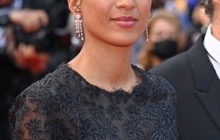 """CANNES, FRANCE - JULY 06: Jury member Mati Diop attends the """"Annette"""" screening and opening ceremony during the 74th annual Cannes Film Festival on July 06, 2021 in Cannes, France. (Photo by Daniele Venturelli/WireImage)"""