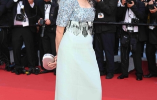 """CANNES, FRANCE - JULY 06: Andie MacDowell attends the """"Annette"""" screening and opening ceremony during the 74th annual Cannes Film Festival on July 06, 2021 in Cannes, France. (Photo by Pascal Le Segretain/Getty Images)"""
