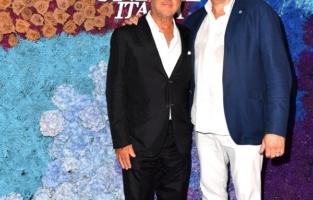 CAPRI, ITALY - JULY 31: Andrea Panconesi and Paolo Rozera  attend the LuisaViaRoma for Unicef event at La Certosa di San Giacomo on July 31, 2021 in Capri, Italy. (Photo by Jacopo M. Raule/Getty Images for Luisaviaroma)