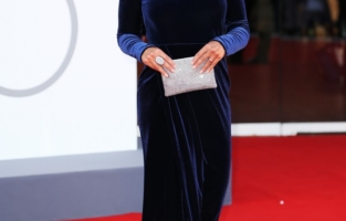 """VENICE, ITALY - SEPTEMBER 01: Roberta Giarrusso attends the red carpet of the movie """"Madres Paralelas"""" during the 78th Venice International Film Festival on September 01, 2021 in Venice, Italy. (Photo by Ernesto Ruscio/Getty Images)"""