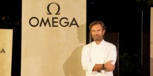 Omega Speedmaster Chronoscope: il party a Villa Necchi Campiglio con Dalilah Muhammad e Carlo Cracco