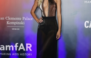 VENICE, ITALY - SEPTEMBER 10: Frida Aasen is seen at AmfAR/Campari Event during Venice Film Festival at  on September 10, 2021 in Venice, Italy. (Photo by Ernesto S. Ruscio/Getty Images for Campari)