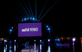 VENICE, ITALY - SEPTEMBER 10: A general view at the amfAR Venice gala 2021 on September 10, 2021 in Venice, Italy. (Photo by Claudio Lavenia/amfAR/Getty Images for amfAR)