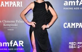 VENICE, ITALY - SEPTEMBER 10: Nina Senicar attends the amfAR Venice gala 2021 on September 10, 2021 in Venice, Italy. (Photo by Pietro D'Aprano/amfAR/Getty Images for amfAR)