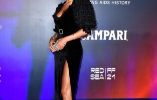 VENICE, ITALY - SEPTEMBER 10: Giulia De Lellis attends the amfAR Venice gala 2021 on September 10, 2021 in Venice, Italy. (Photo by Pietro D'Aprano/amfAR/Getty Images for amfAR)