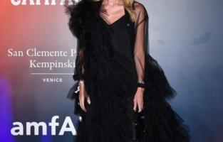 VENICE, ITALY - SEPTEMBER 10: Umberta Gnutti Beretta attends the amfAR Venice gala 2021 on September 10, 2021 in Venice, Italy. (Photo by Pietro D'Aprano/amfAR/Getty Images for amfAR)