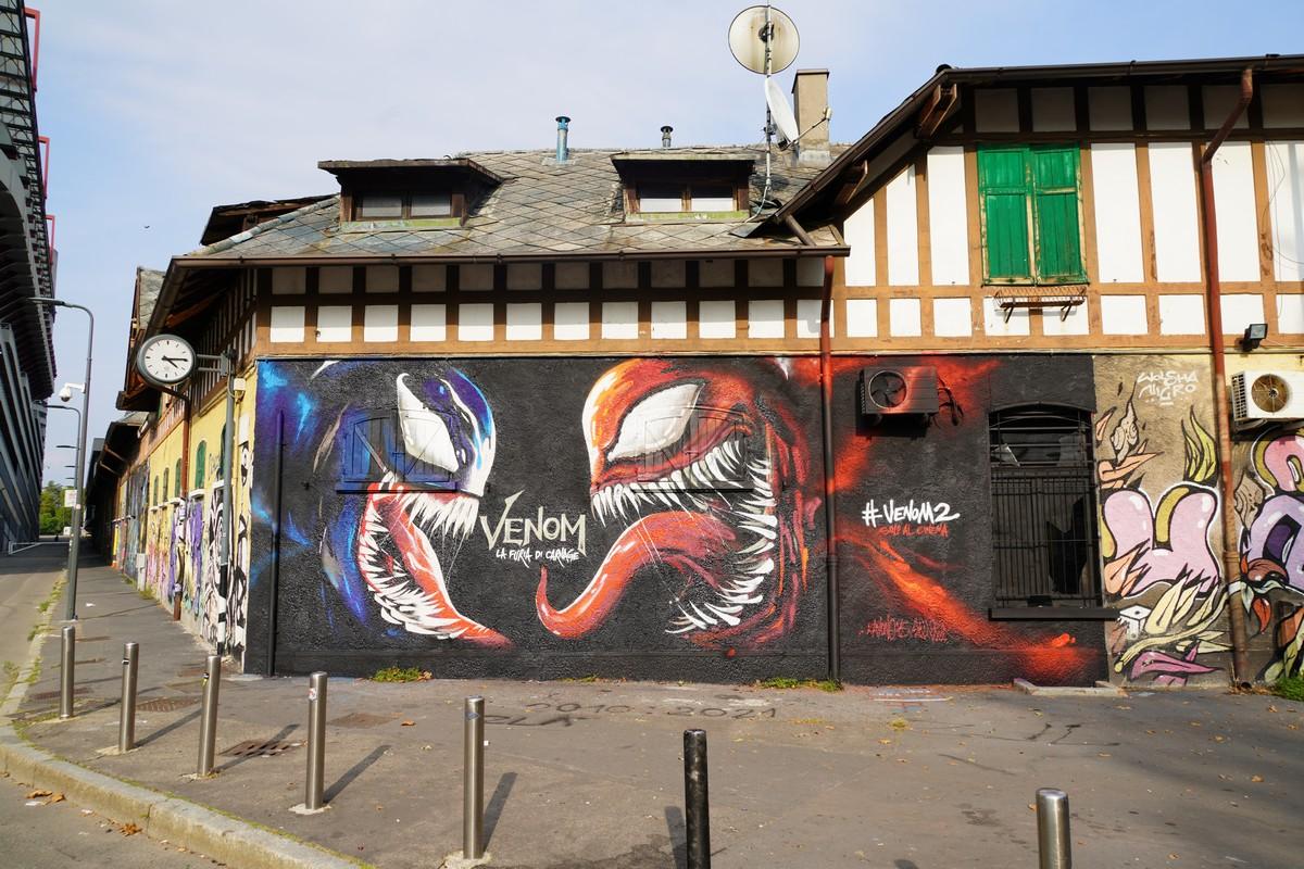 Murales Venom la furia di Carnage